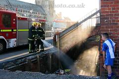 Morison Hall Fire (michael gant) Tags: boys fire fireman brigade headland hartlepool