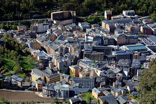 Andorra city views: Engordany & Escaldes, Andorra, Pyrenees