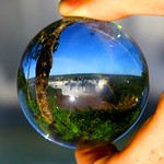 Iguacu waterfalls, Foz do Iguacu – Brazil. Crystal ball