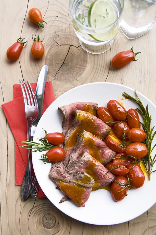 Roast Beef provenzale con Marzanino Confit