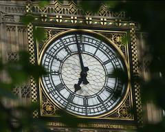 Big Ben London (Mukumbura) Tags: travel trees vacation england holiday tree london clock tourism westminster leaves evening break bigben tourist embankment clockface topshots summertimeuk