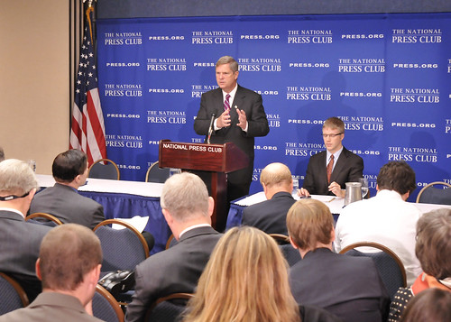 Agriculture Secretary Tom Vilsack Announces Renewable Energy Initiatives to Spur Rural Revitalization throughout the country.  Secretary Vilsack spoke of the Obama Administration's effort to promoter production of fuel from renewable sources, create jobs and mitigate the effects of climate change.   The Secretary made these remarks at the National Press Club in Washington, DC, on Thursday, October 21, 2010.