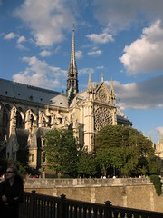 August Notre Dame view (Kaiho_) Tags: paris tower church architecture cathedral medieval steeple notredame buttresses