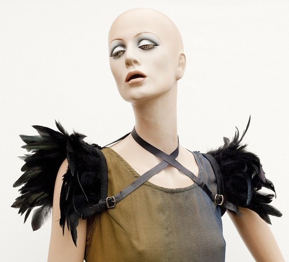 ETSY feather shoulder harness by MetamorphDK 3
