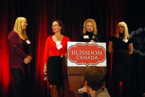 The BlissDom Canada head honchos: Barbara Jones, Paula Bruno, Allison Worthington, and Catherine Connors
