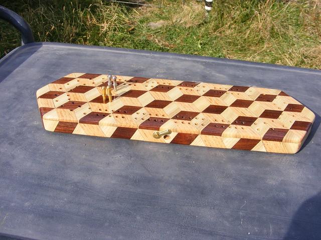 Making a Tumbling Block Cribbage Board #34