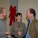 President Rush with faculty at Christmas Party