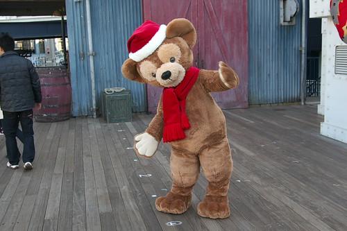 ダッフィーのクリスマスバージョングリーディング