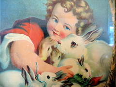 detail (boygirlparty) Tags: painting weird store sandiego antique rabbits