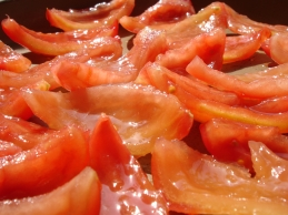 Tomatenfilets am Confieren