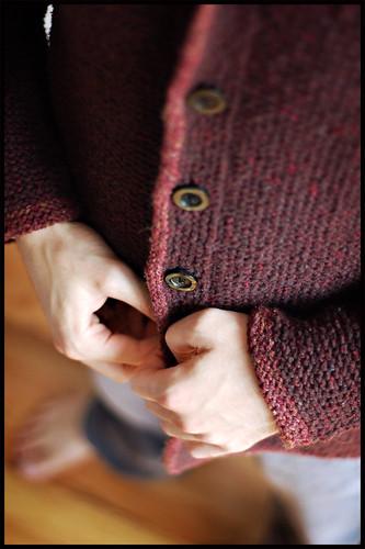 Adult Tomten Jacket - Buttonband Detail