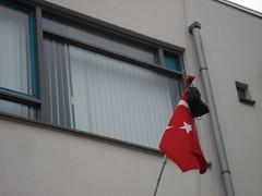 Turkse vlag met tas