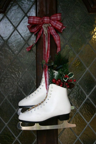 christmas front door - Ice Skate Christmas Decoration
