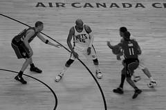 Raptors Game, Toronto (pikadilly) Tags: bw toronto canada game sports sport ball spurs star teams team basket air center canadian american match nba league raptors