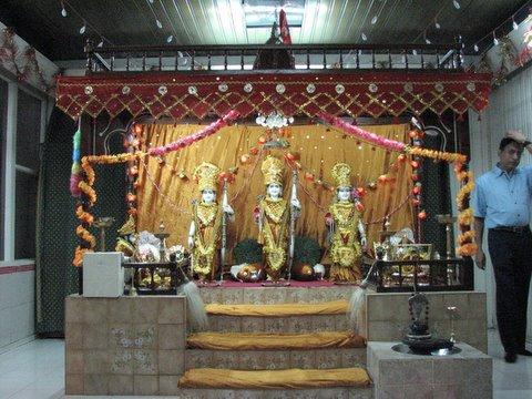 deities at the temple..ram,lakshman, sita