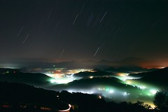Night, Fog, Star trail - by Fishtail@Taipei