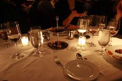 Foto di una cena al ristorante