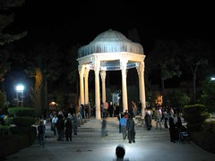 Hafez tomb (mahyar hejazi) Tags: people night canon flickr iran teal kelly shiraz iranian hafez hejazi mahyar mahyarhejazi