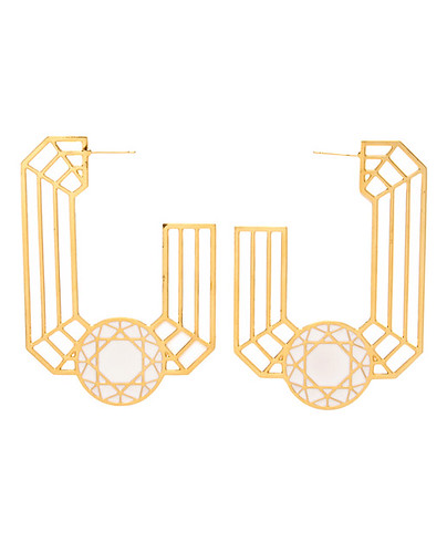 Lara Bohinc 'emerald' hoop earrings