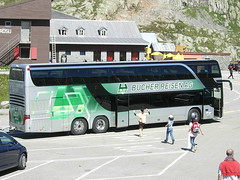 Setra S431 DT of Bucher Travel, Lucerne, Switzerland (Reto Kurmann) Tags: bus switzerland coach setra grimselpass s431dt