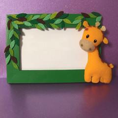 Giraffe frame (Eskimimi) Tags: uk toy monkey stuffed dolphin felt mimi beaver fabric cuddly plushie octopus giraffe etsy pocketpets eskimimi
