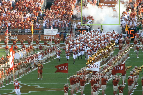 A Texas Longhorns football game