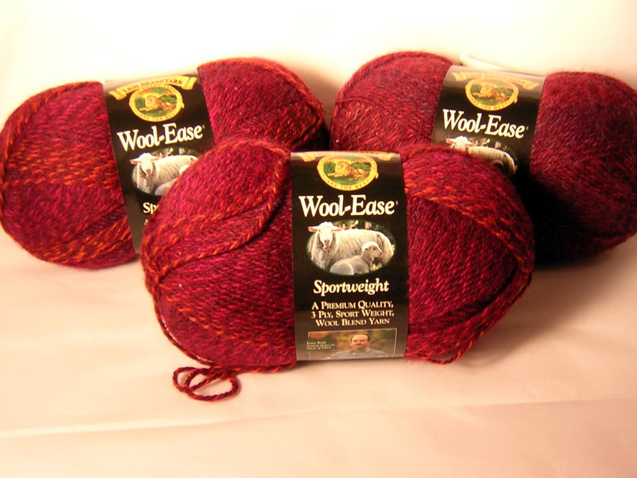 Wool Ease Sport Strawberry Twist x 3