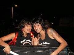are you girls sisters? (The Blazin' Banditas) Tags: rollerderby rollergirls carvel blazin banditas