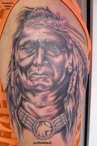 Indianer Tattoo This Indian Tattoo On A Strong Upper Arm I Flickr