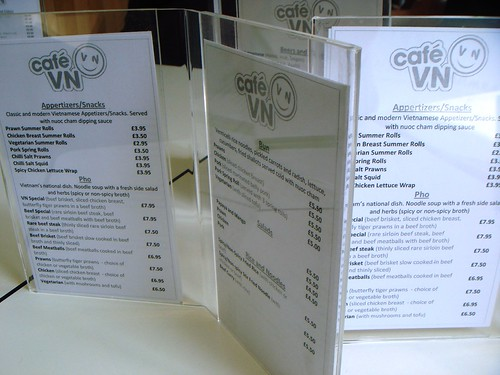 Cafe VN Menu
