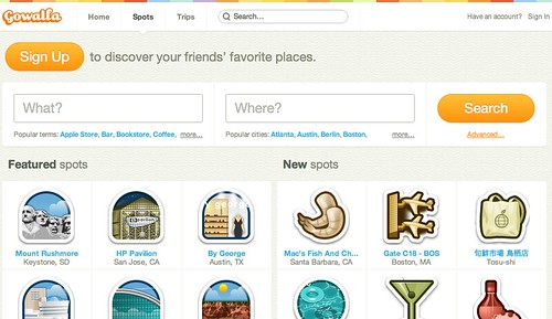Gowalla search