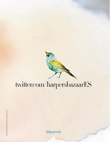 Twitter de Harper's Bazaar, por Verónica Ballart