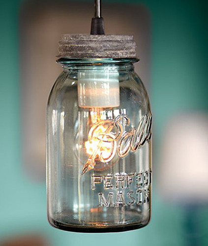 Antique Mason Jar pendants