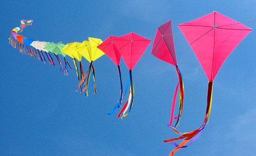 70 kites on a single line!