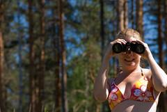 Looking back at you (denovich) Tags: travel finland deb lookingback kaivolampicabin