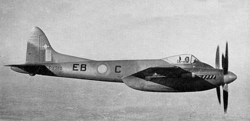De Havilland Hornet F.MK.3 IN CAMOUFLAGE NO.41 SQD