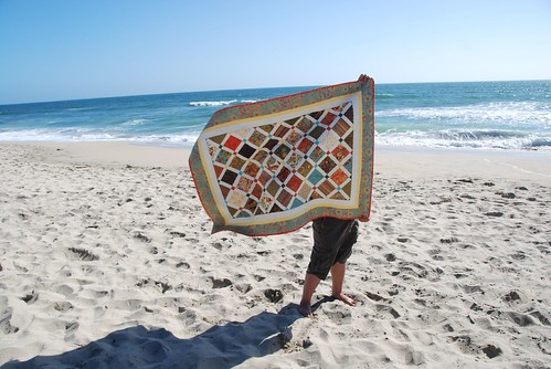 Front side of Half Moon Bay Quilt Waving