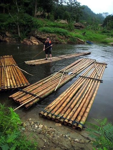 Husbear on a raft