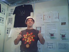 Grant doing tshirts at the Education Expo