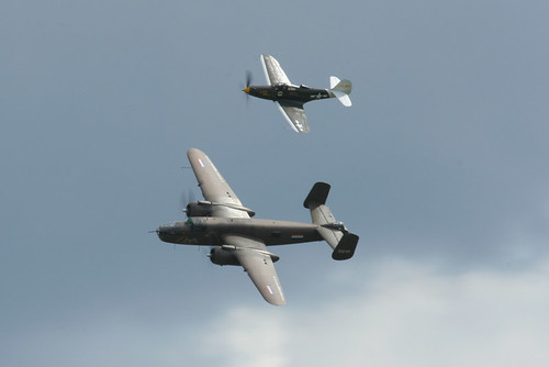 Warbird picture - P-39 and B-25