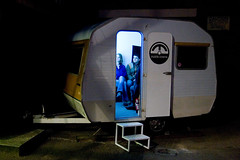 Mobile Cinema at BLOC assembly 6 (Dan Sumption) Tags: cinema public mobile this see all with photos icon tagged charlie click caravan bloc assembly chaplin spg hcsp blocspace nofixedabode pernoctators BendingLight:POD=october street2010