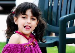NAnananaNAananaNA (Hazel Eyes ) Tags: pink portrait color green colors girl face grass children child little farm daughter arabian mariam