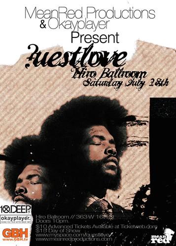 Questlove DJ Set @ Hiro Ballroom 7/28/07