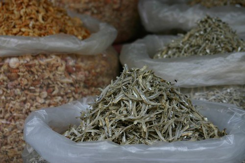 Dried fish on Bintan Island, Indonesia.