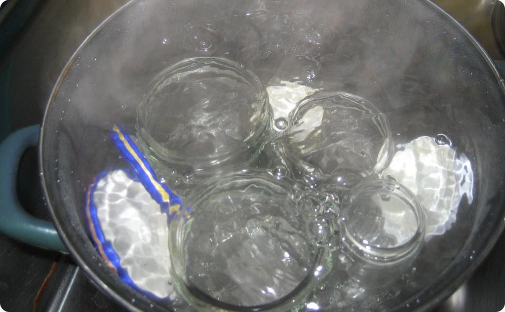 Esterilizar los tarros