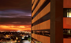 Inferno Tower (jimhankey) Tags: sunset red summer arizona sky orange cloud sun phoenix weather skyline night skyscraper landscape gold golden desert cloudy scenic naturallight uptown valley vista orangesky redsky goldensunset dramaticsky hdr beautifulclouds beautifulview desertview nightfall cirrus 2007 eveninglight phoenixarizona beautifulscenery phoenixaz scenicview maricopacounty orangesunset cirruscloud goldensky nikond200 orangeclouds glowingcloud orangecloud dearflickrfriend uptownphoenix jimhankey arizonasummer arizonaweather phoenixpow phoenixweather phoenixariz