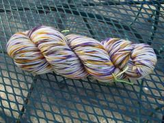Spot dye sock yarn