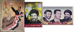 The streets of Syria were full of political posters... (Hulivili) Tags: landscape iran propaganda politics syria hezbollah muhammad assad basharalassad sayyid mahmoudahmadinejad husayn hasannasrallah fadlallah