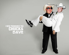 I Now Pronounce You Chuck and Dave (fooxalicious) Tags: dave larry chuck parody pronounce