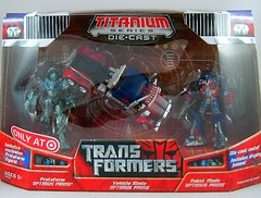 Transformers Optimus Prime (Titanium Series 3 pack) - caja